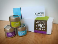 Belmont's spice sets are distributed as thank-you gifts that reflect the experience of of our work: personal, fun and passionate. The patterns on the magnetic tin labels were designed to convey the spices' country of origin and fun quotes about cooking and passion are printed on the back. As a company who focuses on culture building and branding, each package is crafted to match the recipient's taste and personality.