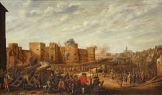 Het beleg van het Kasteel Vredenburg te Utrecht in 1577 (1646), Joost Cornelisz. Droochsloot. Olieverf op paneel.