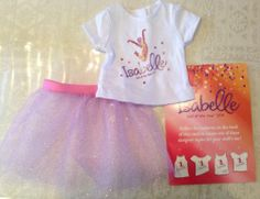 American Girl Doll Isabelle T-shirt & Tutu Girl Of The Year 2014 Store Exclusive