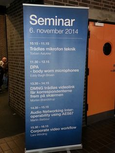 AVIWEST at Monitor Expo, Denmark, 6th Nov 2015. Seminar about the DMNG solutions
