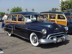 1950 Oldsmobile Woody Wagon | Henry & Karen Trulson with their 1948 Ford. Henry is the President of ...