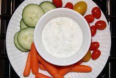 Greek yogurt veggie dip