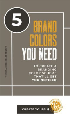 In branding, not all color palettes are created equal! In this series, you're going to learn everything you need to know to create a branding color palette that'll NEVER (evah) fail you. Branding Your Business, Personal Branding, Business Tips, Online Business, Web Design Color, Branding Design, Logo Design, Graphic Design Software, Brand Identity
