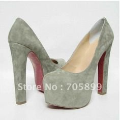 16cm daffodil pumps daffy 160mm Suede Platform Pumps gray high heels dress shoes evening party shoes newest Free shipping all colors