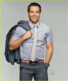 Star Trek stud Chris Pine models some of the summer's sexiest suits in the June 2009 issue of GQ.