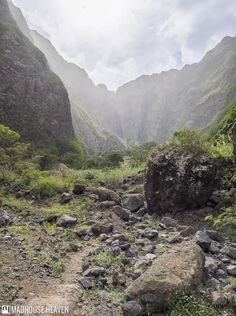 Steep bluffs rise on either side of what was once a river-bed in Paúl Valley Santo Antão
