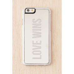 Zero Gravity iPhone 6 Love Wins Case ($35) ❤ liked on Polyvore featuring accessories, tech accessories, clear and zero gravity