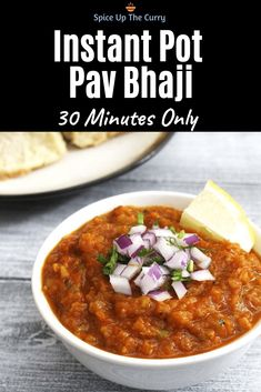 Mumbai pav bhaji recipe made in instant pot. This is a popular Mumbai (Bombay) street food that is made at home within 30 minutes only. Perfect as a dinner meal. Baby Food Recipes, Indian Food Recipes, Vegetarian Recipes, Dinner Recipes, Healthy Recipes, Quick Recipes, 30 Minute Meals, Quick Meals, Pav Bhaji Masala