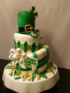 St. Patricks Day birthday cake
