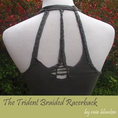 Create this original upcycled racerback tank top design from Rain Blanken by recycling an old fitted t-shirt.: The Finished Back