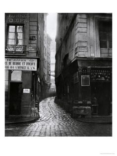 Rue Tirechape, from Rue St. Honore, Paris 1858-78 by Charles Marville-Google Image Result for http://imgc.allpostersimages.com/images/P-473-488-90/13/1349/TXAS000Z/posters/charles-marville-rue-tirechape-from-rue-st-honore-paris-1858-78.jpg