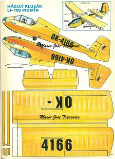 Vintage Plane Paper Model Cut Outs - Digital Download by MariaJoseTreasures on Etsy