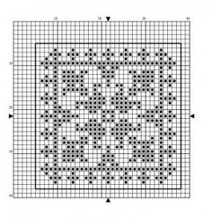 Square 06 | Free chart for cross-stitch, filet crochet | Chart for pattern - Gráfico