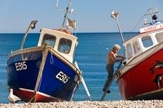 Poster Print-Fishing boats, Beer, Devon, Poster sized print made in the USA Fishing Vessel, Fishing Box, Sea Fishing, Bass Fishing, Fishing Tackle, Fishing Trips, Alaska Fishing, Fishing Knots, Devon Uk