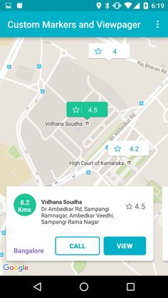 SkyTreasure/Airbnb-Android-Google-Map-View: This is a sample Android Application which has Google Map view similar to what AirBnb Android Application. Moving Markers like Uber/Ola. Custom Google Search for places. Recycler view with Animations added.