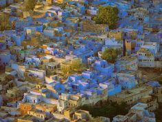 La città azzurra del #Rajasthan: Jodhpur. Colori dell' #India