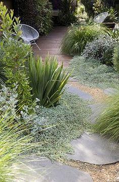༺♥༻ Stone Garden Paths, Gravel Garden, Garden Planters, Garden Boxes, Stone Walkway, Stone Path, Wood Stone, Grey Stone, Backyard Garden Design