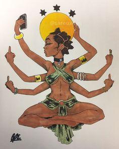 10 Best Yoga Prints Images Black Art Black Women Art Female Art