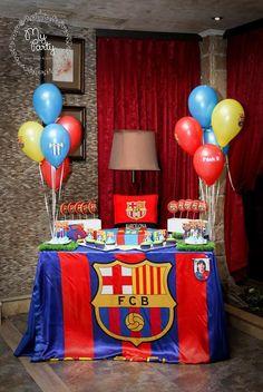 Resultado de imagen para candy bar tematica barça Messi Birthday, Football First Birthday, Boy Birthday, Happy Birthday, Birthday Ideas, Bolo Do Barcelona, Barcelona Soccer Party, Soccer Birthday Parties, Throw A Party
