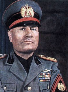 Benito Mussolini: fascist dictator of Italy, joined forces with Hitler against the allied powers. World History, World War Ii, Historia Universal, Second World, World Leaders, Military History, Warfare, American History, American Pride