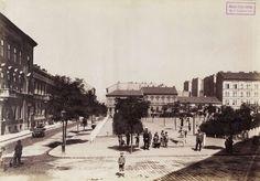 Almássy tér az Almássy utca felől nézve. A felvétel 1894 körül készült. A kép forrását kérjük így adja meg: Fortepan / Budapest Főváros Levéltára. Levéltári jelzet: HU.BFL.XV.19.d.1.07.042