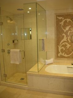 this looks similar to the new master bath in my boy's new house!!