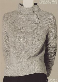 Knitting Patterns Sweaters Carmela Full Fashioned Pullover by Adrienne Vittadini is knit in a Bulky Sized: Sweater Knitting Patterns, Knitting Stitches, Knitting Designs, Knit Patterns, Hand Knitting, Knitting Sweaters, Ropa Free People, Diy Pullover, Top Mode