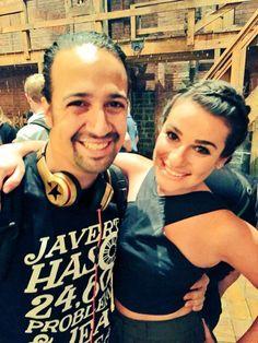 "Lin Manuel Miranda and Lea Michele ""compare Groffsauce notes"""