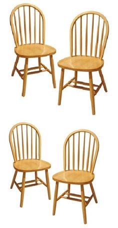 furniture: Dining Room Chairs Classic Beech Wood Set Of 2 Sturdy Kitchen Home Furniture New BUY IT NOW ONLY: $84.35