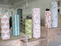 whole fabric lamps :: patterned shades