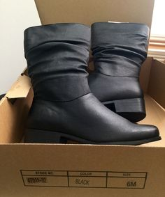 dc5762422899 Zip Block Boots for Women s Leather US Size 6