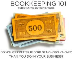 Book Keeping 101 for Creatives.  A good list, but I would have added insurance too.