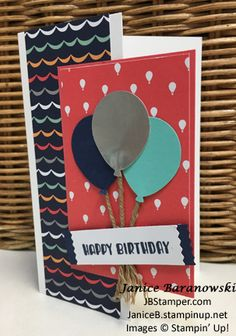 carried-away-balloons-open, JBStamper, Carried Away DSP, Designer Tee stamp set, Balloon Bouquet punch