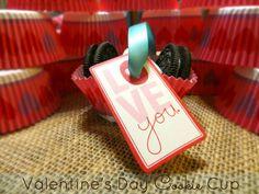 #Valentine's Day Cookie Cup  #kids www.chasethestar.net