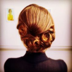Romantic Bohemian 1930s Chignon Style - Book your vintage hair appointment now - info@russellandbrowns.co.uk
