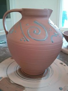 Traditional pottery craft.