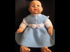 Easy crochet Baby Dress Beginner Level - YouTube https://www.youtube.com/watch?v=Soh4qn6LbCo