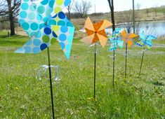 DIY outdoor pinwheel