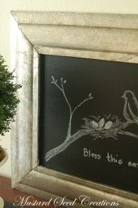 chalkboard idea.   make bigger for fire place cover up.  seasonal