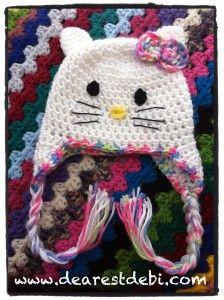 Crochet Newborn Hello Kitty Hat by DearestDebi
