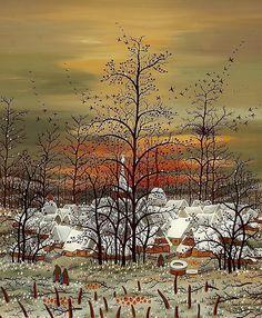 Lackovic-Croata, Ivan 1932 Batinska/Croatia - 2004  Untitled (village in winter).