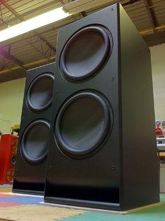 High End Audio Equipment For Sale Diy Subwoofer, Subwoofer Box Design, Powered Subwoofer, Audiophile Speakers, Speaker Amplifier, Hifi Audio, Bluetooth Speakers, Car Audio, Homemade Speakers