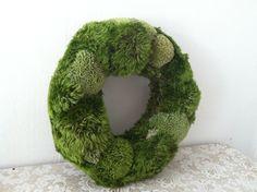 handmade moss wreath.