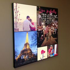 LIVE Joyfully! Canvas Photos printed with quotes wall art  Personalized photo gift!