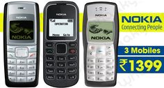 Get now Nokia Combo of 3 Mobile Phone online available in India  Deal Price: Rs. 1399  http://goo.gl/gjRvWU  #nokiamobile #mobilephone #buynokiamobile #mobile #nokia #dailynewsindian #combooffer #discount #hotdeals #whaaky