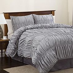 Lush Decor Silver Venetian 4-piece Comforter Set - total Anthro knockoff for about 25% of the price of the original