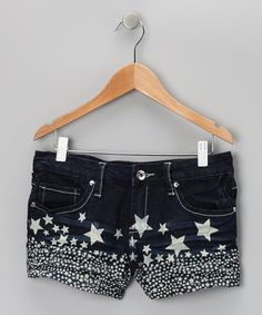 Take a look at this Dark Wash Star Shorts by YMI Jeans on #zulily today! $12.99.  Just worried they might be a little too short for her...