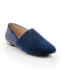 Blue Studded Loafer - ShoeMint.com