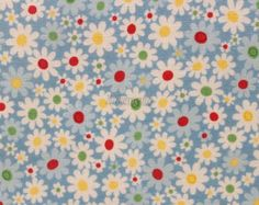 Flower party - Blue by Atsuko Matsuyama - Printed in Japan