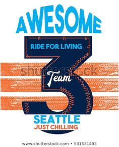 awesome seattle team,t-shirt print poster vector illustration [Converted] Seattle, Polo Shirt Outfits, Advertising And Promotion, Team T Shirts, En Stock, Psd Templates, Kids Boys, Printed Shirts, My Design